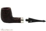Peterson House Pipe Rustic Billiard Oak Tobacco Pipe - PLIP Apart