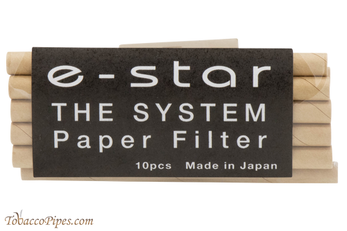 Tsuge E-Star System 10 Pack Tobacco Pipe Filters