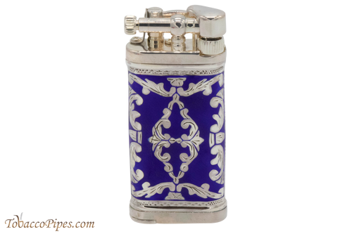 Sillems LEA Old Boy Royal Blue Double Sided Pipe Lighter