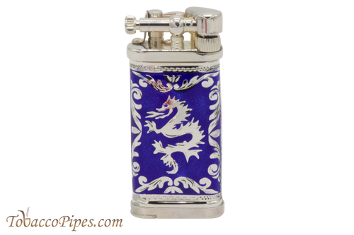Sillems LEA Old Boy Dragon Royal Blue Pipe Lighter