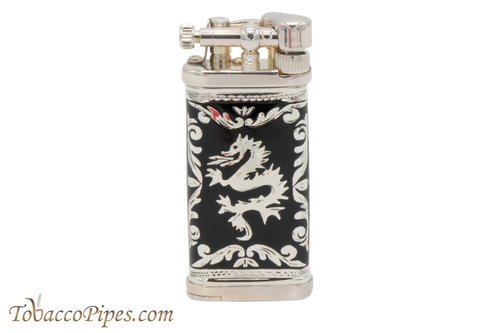 Sillems LEA Old Boy Dragon Black Pipe Lighter