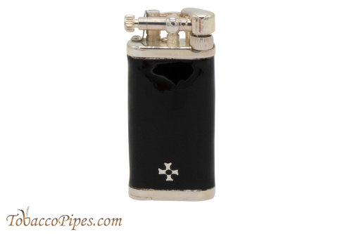 Sillems Old Boy Enamel Black Pipe Lighter