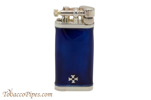 Sillems Old Boy Enamel Blue Pipe Lighter