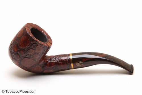 Savinelli Alligator Brown 622 Tobacco Pipe Left Side