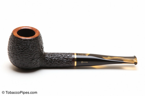 Savinelli Oscar Tiger 207 Tobacco Pipe - Rustic Left Side