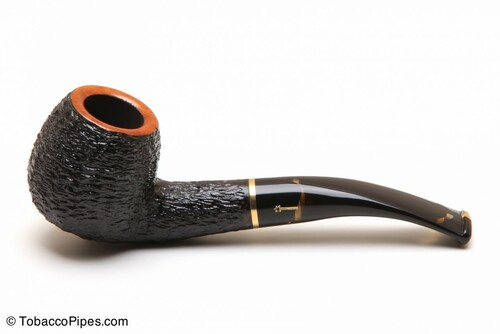 Savinelli Oscar Tiger 626 Tobacco Pipe - Rustic Left Side