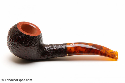 Savinelli Tortuga Rustic Briar 673 KS Tobacco Pipe Left Side