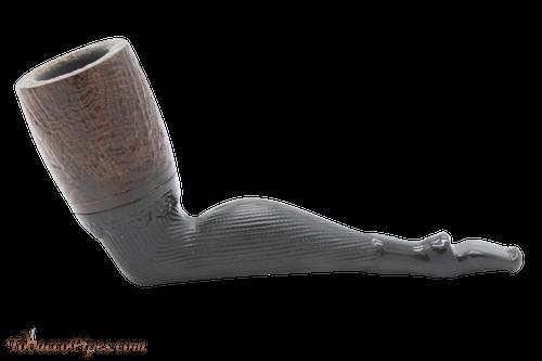 Old German Clay Ladys Leg Sandblast Tobacco Pipe