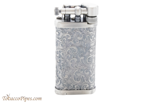 IM Corona Old Boy Arabesque Silver Pipe Lighter