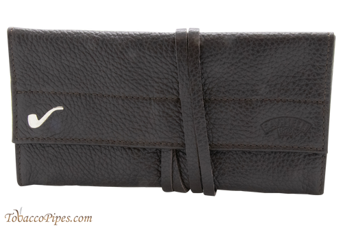 Savinelli Brown Roll-up Pipe Pouch