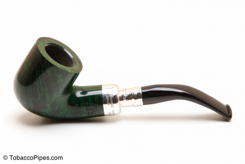Peterson Spigot Green Spray 01 Smooth Tobacco Pipe Fishtail Left Side