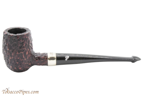 Peterson Specialty Barrel Rustic Nickel Mounted Tobacco Pipe PLIP