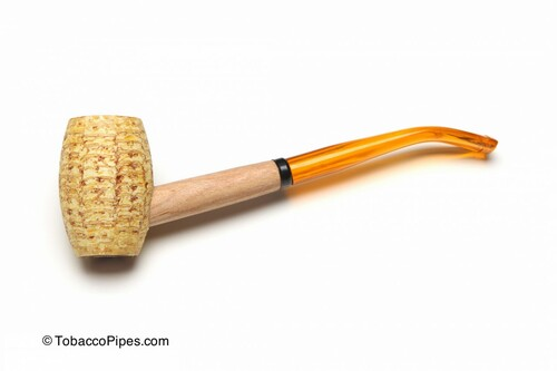 Missouri Meerschaum Mizzou Corncob Tobacco Pipe Left Side