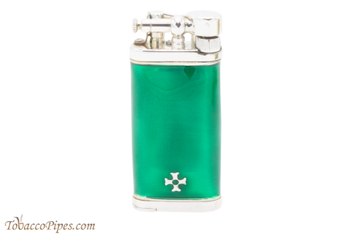 Sillems Old Boy Enamel Green Pipe Lighter