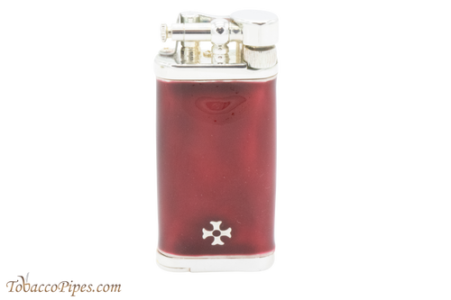 Sillems Old Boy Enamel Red Pipe Lighter