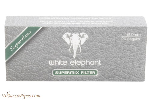 White Elephant 9 mm Supermix Filters - 20 Pack