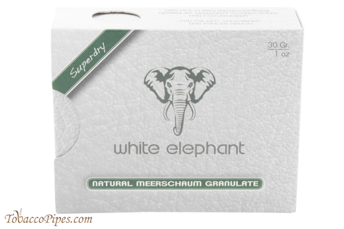 White Elephant Meerschaum Granulate Filters 1 oz Front