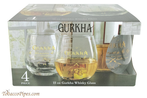 Gurkha 4 Piece Whisky Glass Set