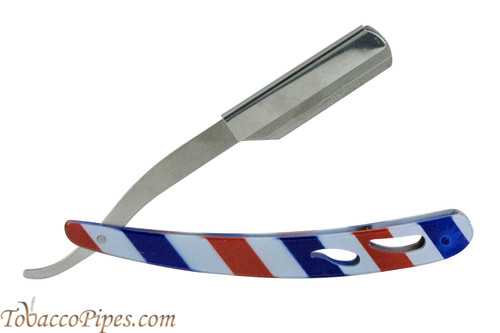 Beyler Stainless Steel Straight Razor 100-0022 Barber Stripes