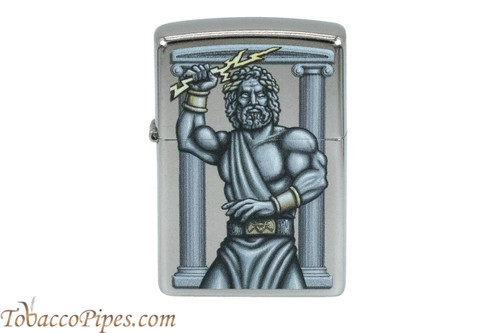 Zippo Mythical Chrome Zeus Lightning Bolt Lighter