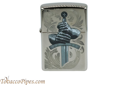 Zippo Mythical Black Ice Knight Gloves Lighter