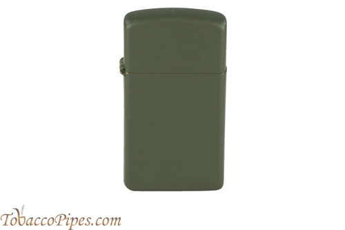 Zippo Slim Green Matte Lighter