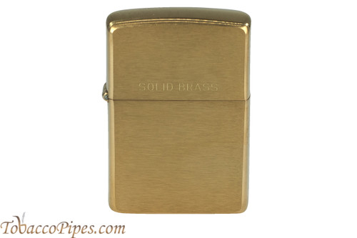 Zippo Brushed Solid Brass Lighter