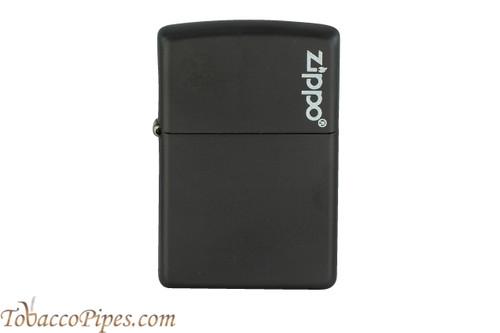 Zippo Black Matte Zippo Logo Lighter