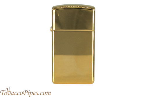 Zippo Slim High Polish Brass Lighter