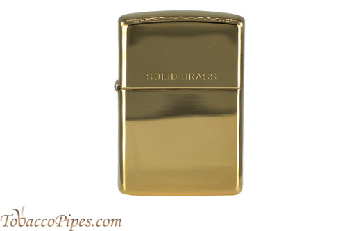 Zippo High Polish Solid Brass Lighter