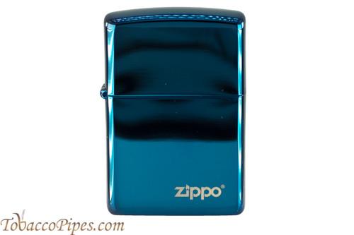 Zippo High Polish Sapphire Logo Lighter