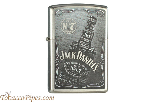 Zippo Spirits Jack Daniels Collage Bottle Lighter
