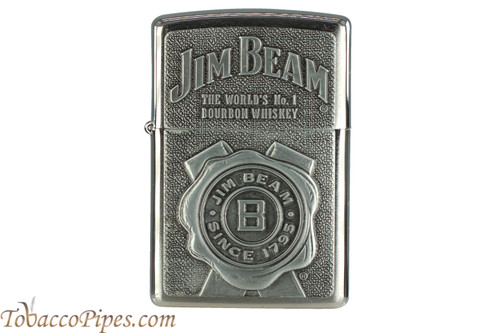 Zippo Spirits Jim Beam Ribbon Chrome Lighter