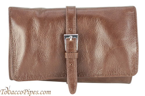 Cobblestone Leather Belt Pipe Pouch