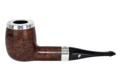 Peterson House Pipe Billiard Oak Silver Cap Tobacco Pipe - PLIP