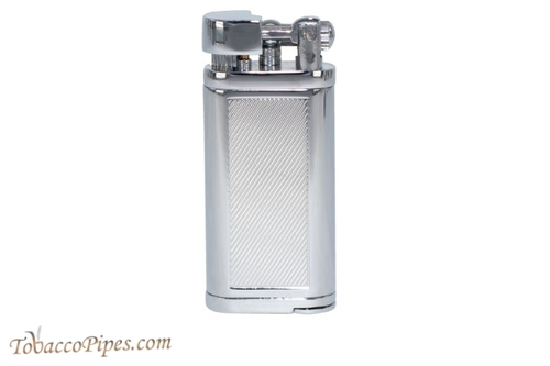 Cobblestone Classic Etched Silver Lighter Back