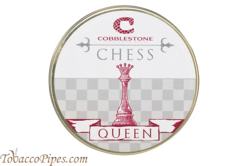 Cobblestone Chess Queen Pipe Tobacco Front