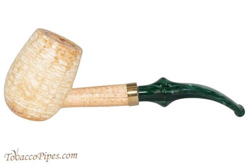 Missouri Meerschaum Emerald Bent Tobacco Pipe