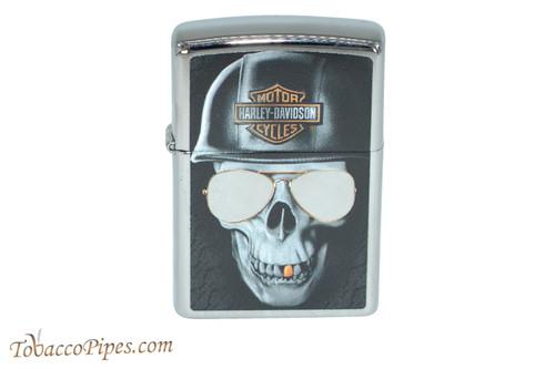 Zippo Harley Davidson Chromed Out Skull Lighter