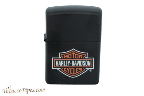 Zippo Harley Davidson Black Matte Logo Lighter