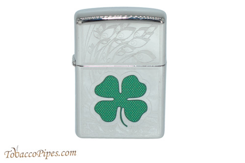 Zippo Luck Etched Clover Lighter
