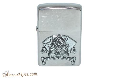 Zippo Luck Royal Flush Skull Lighter