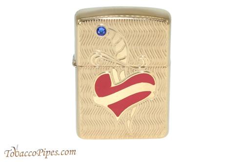 Zippo Tattoo Heart and Stone Lighter