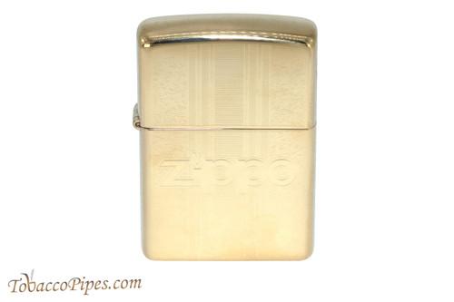 Zippo Brass Pattern Zippo Logo Lighter