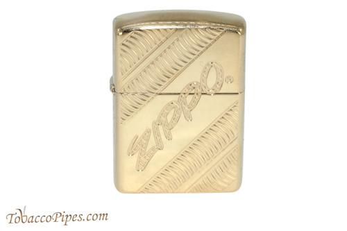 Zippo Brass Coiled Zippo Logo Lighter