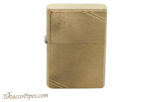 Zippo Classic Vintage Brushed Brass Slash Lighter