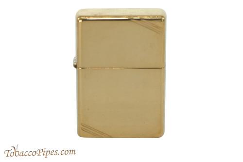 Zippo Classic Vintage Polished Brass Slash Lighter