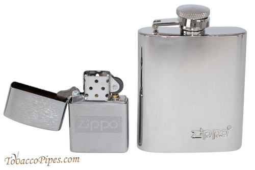 Zippo Lighter and Zippo Flask Gift Set