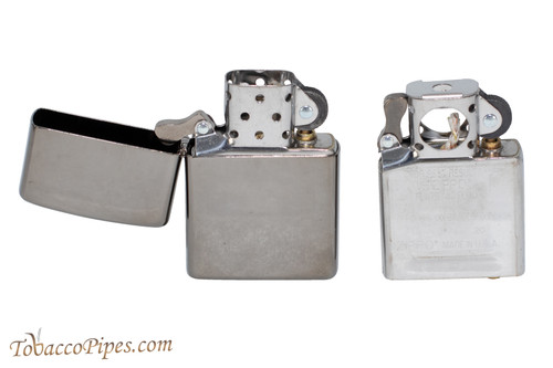 Zippo Classic Black Ice Lighter and Pipe Insert Set