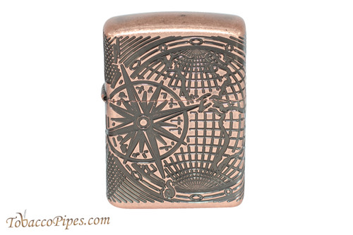 Zippo Nautical Antique Copper World Map Lighter
